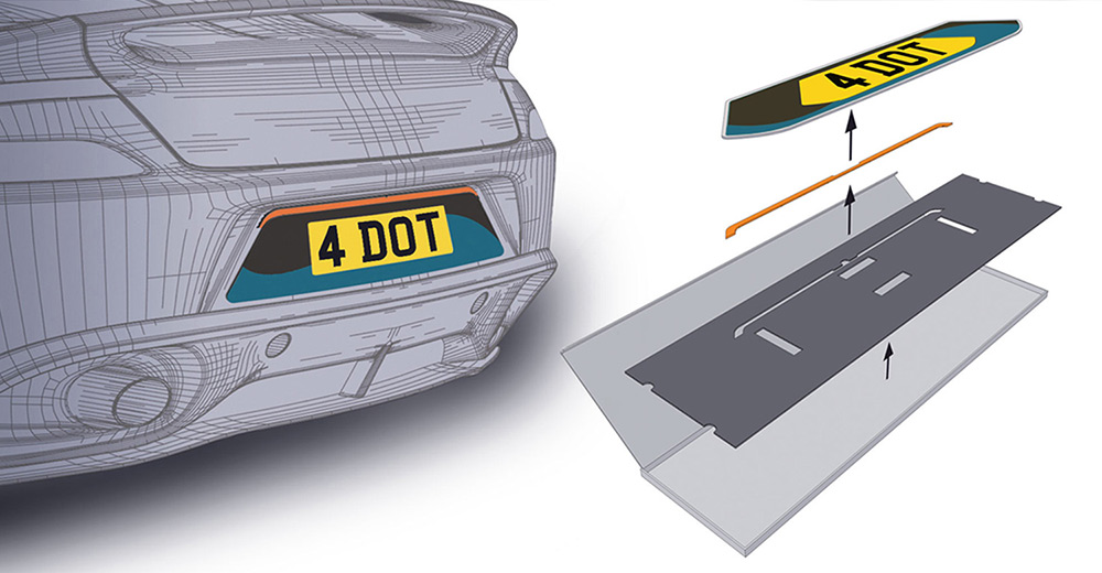 fourdot number plate gifts packaging