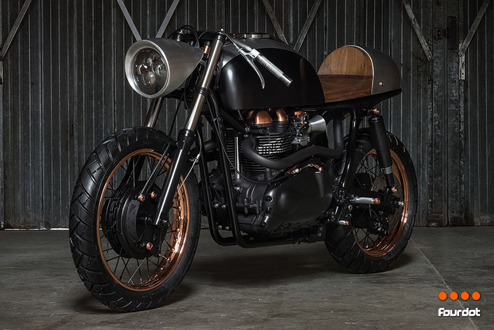 Death Machines of London Up Yours Copper Motorcycle