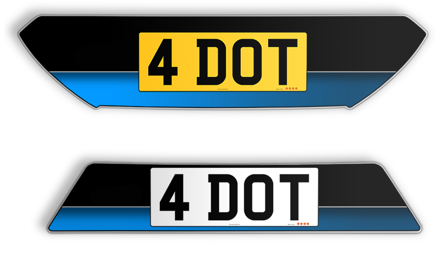 Ford Focus RS Number Plates Set 1