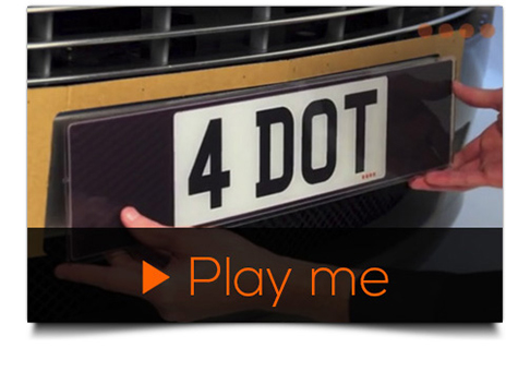 video guide number plate installation