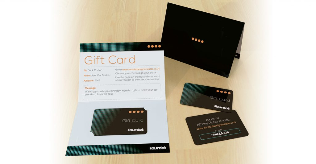 gift service gift cards fourdot number plates