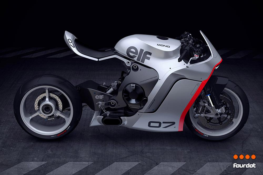 The Huge Mono Moto Racr Motorcycle