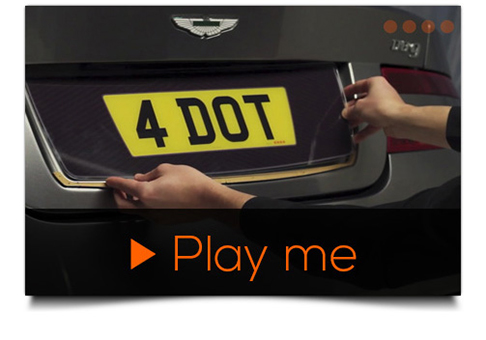 fourdot number plates video guides