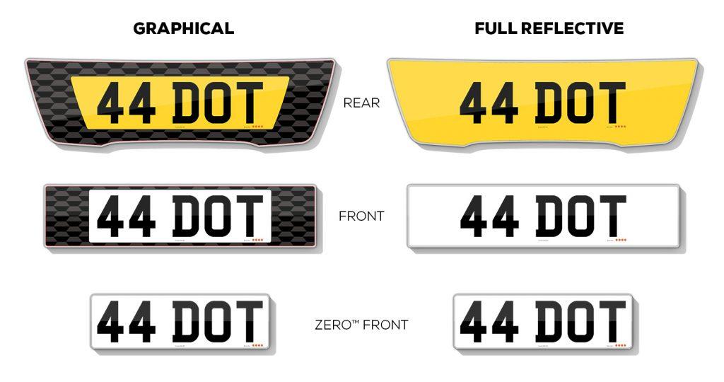 signature range number plates