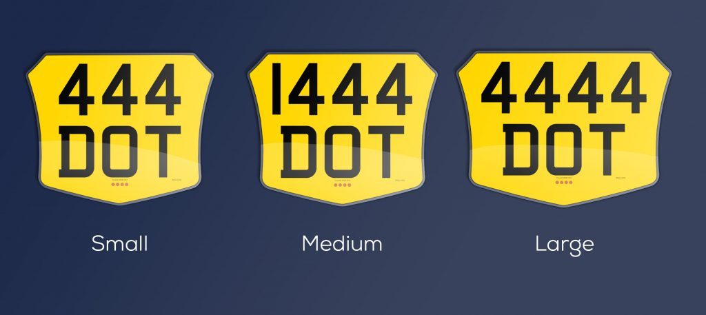 varying width motorcycle plates