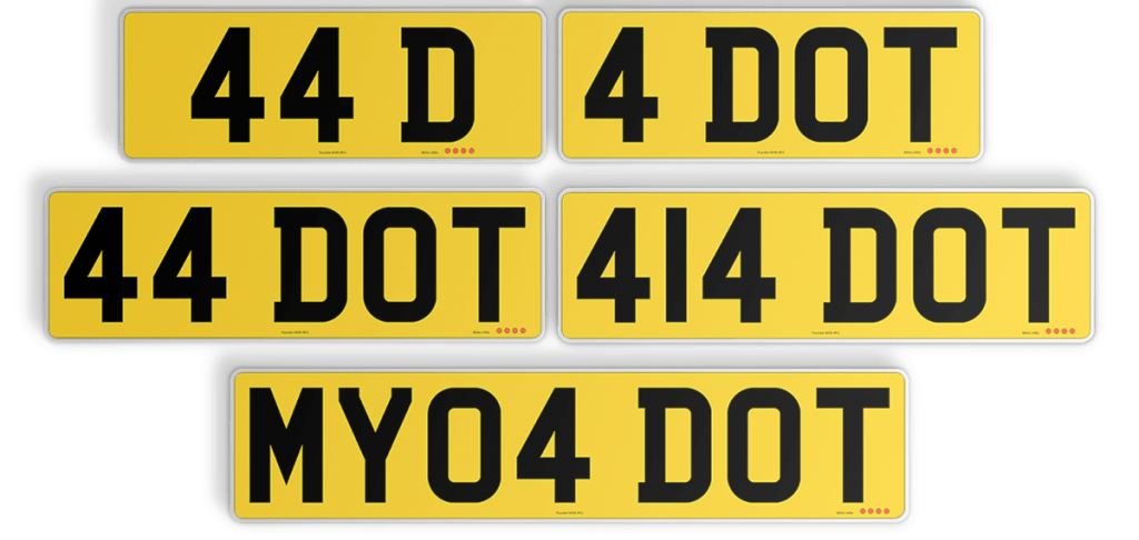 varying width numberplates