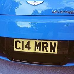 short number plate