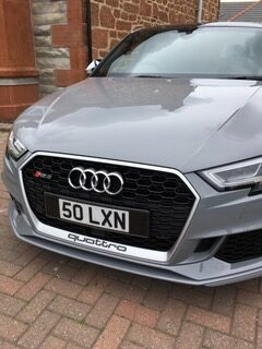 small number plate